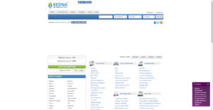 Kedna website homepage photo
