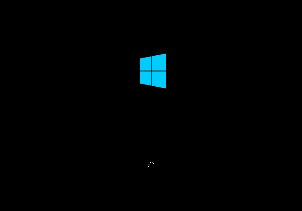 Image of a computer screen with Windows 10 loading