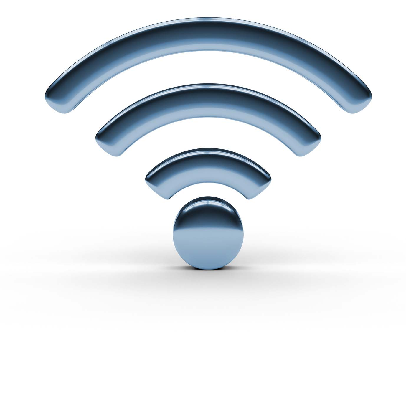 3d illustration of internet wi-fi connection