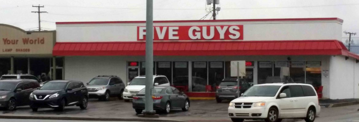 Five Guys Burger Restuarants Located In Nashville, Tennessee
